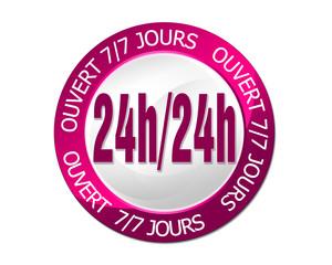 label 24/24 H