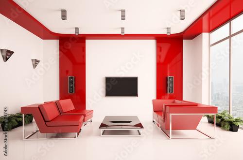 Modern wohnzimmer 3d stockfotos und lizenzfreie bilder auf bild 24503745 - Wohnzimmer bild modern ...