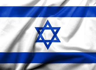 3D Flag of  Israel satin