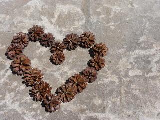 coeur en pomme de pins #2