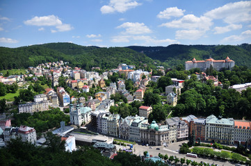look at the spa of Karlovy Vary
