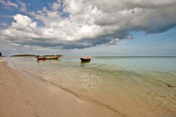 Thai boats near the beach. Thailand