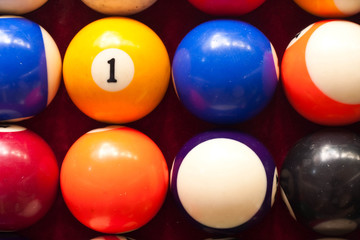 number on color ball