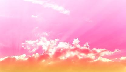 Licht und Wolken - Pink Orange