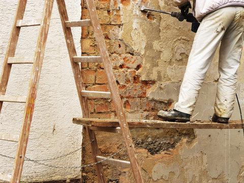 Haus-Renovierung Außenwand
