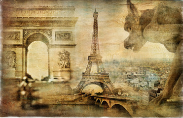 Fotomurales - amazing Paris - artistic retro collage