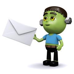 3d Frankenstein posts a letter
