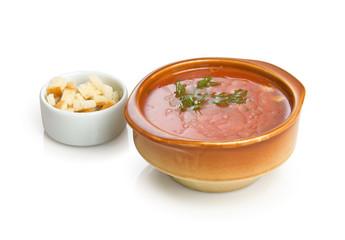 Italian cold soup gazpacho