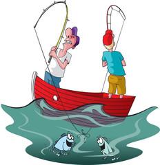 Two tangled Fishermen