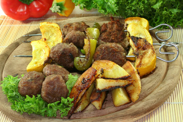 Marokkanischer Fleischspieß