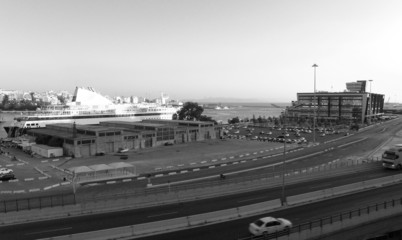 Port in the city of Piraeus. Greece