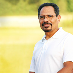 Adult Hispanic Man Outdoor Portrait