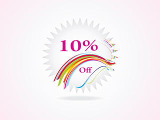 abstract sale tag in pink background