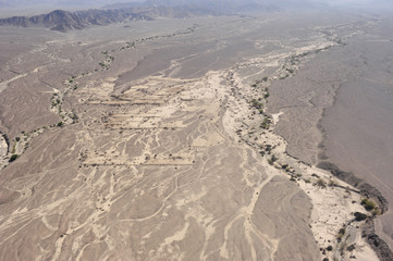 Nazca desert from top view