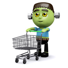 3d Frankenstein goes shopping