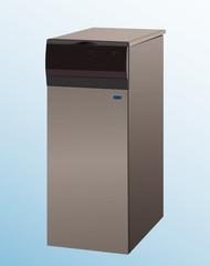 heating boiler vector