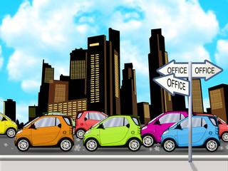 Heavy Traffic illustration