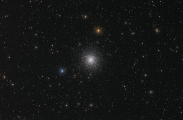 Globular stars cluster in Hercules constellation (M 13).