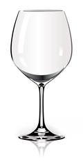 empty glass of wine - bourgogne