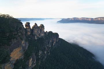 The Three Sisters rock formation near Sydney, Australia
