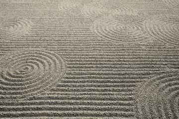 波と渦模様の砂庭園