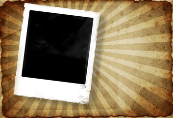 Grunge photo frame with space for your image