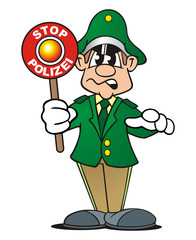 Policeofficer Stop Green