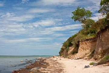 Fototapete - Steilküste an der Ostsee, Insel Poel, cliff line, Baltic Sea