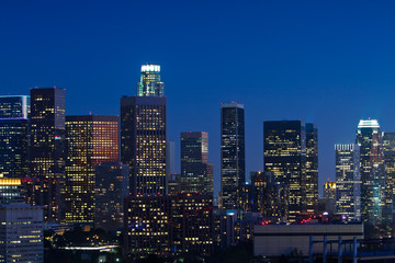 Wall Mural - Los Angeles Skyline at Dusk