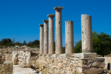 Ruins at the Sanctuary of Apollon Ylatis, Cyprus