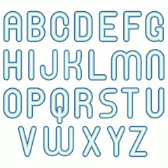 soft blue cold child funny bubble fonts