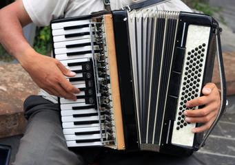 The musician in Gyumri in Armenia