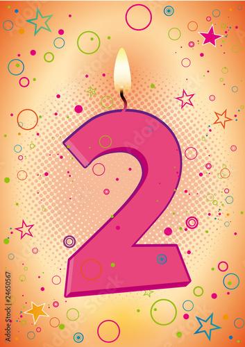 Anniversaire des 2 ans pour les filles fichier vectoriel libre de droits sur la banque d - Anniversaire fille 2 ans ...