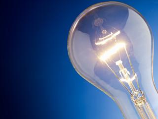 closeup of light bulb