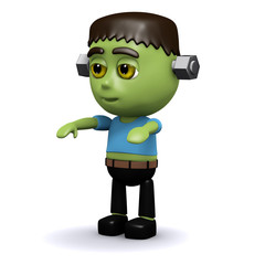3d Frankenstein monster kid