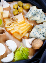 big group of cheeses