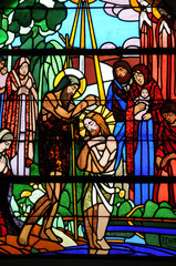 France, vitraux de l'église de Maissemy