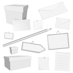 vector white office elements
