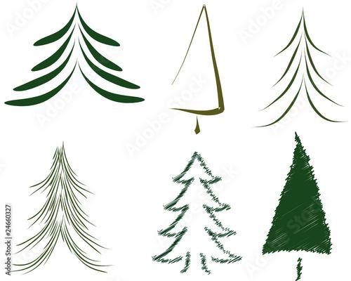 weihnachtsbaum vektor gr n stockfotos und lizenzfreie. Black Bedroom Furniture Sets. Home Design Ideas