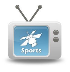 "Cartoon-style TV Icon ""SAT TV - Sports"""