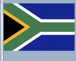 Flaggenserie-Suedafrika-Suedafrika
