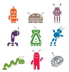 "set of icons ""Robots"""