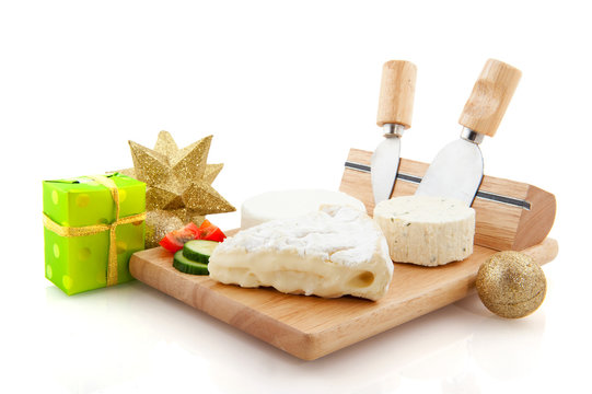 French cheese with christmas