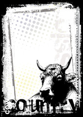 cow poster background