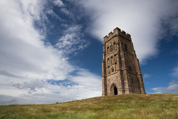 St. Michael's Tower at the top of glastonbury tor