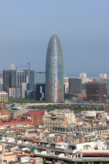View on downtown of Barcelona