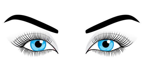 Women's eyes. Vector illustration.