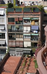 édifice typique de Barcelone