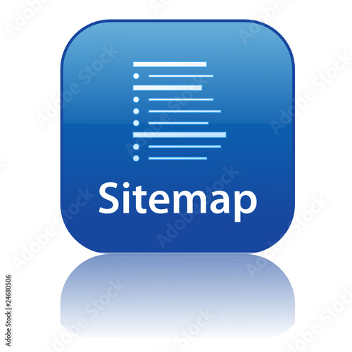 "Sitemap Internet: ""SITEMAP Web Button (internet Website Webpage Structure Icon Map)"" Stock Image And Royalty-free"