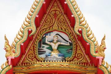 art on gable, Wat Amornburanaram, Ban Phai, Khon Khan
